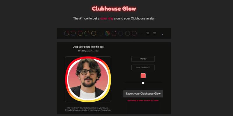 Avatar Profilo Clubhouse Glow